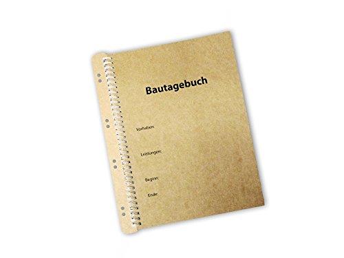 Bautagebuch als Ringbindung inkl. Abheftvorrichtung zur Archivierung (1 Bautagebuch)