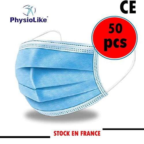 Physiolike Masque -Pack de Protection jetable avec 50 pièces, [5 sachets de...