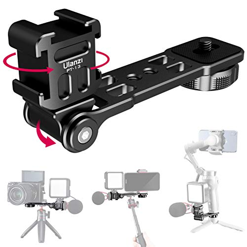 Osmo Mobile 4 Mount, ULANZI PT-13 Camera Bracket Tripod Cold Shoe Mount for Mic Light Stand Compatible with DJI Osmo Mobile 3 4 Zhiyun Smooth 4 q q2 Moza Mini s Hohem isteady Gimbals Stabilizer