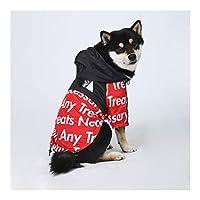 ファッションアルファベット犬レインコート、雨と防風犬のジャケット、大型犬ペットアウトのため、ハンサム、ゴールデンレトリバー、柴犬、ラブラドール (色 : 赤, サイズ : 4XL)