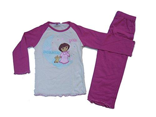 Dora The Explorer Schlafanzug weiß/pink (128)