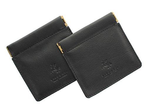 Visconti Leder Münzbörse, Zweierpack, Snaptop CP7 Schwarz