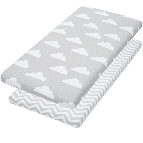 Jomolly Bassinet Sheets - Bassinet Fitted Sheet Fits Halo, Bedside Sleeper, Oval Mattresses - Cradle Bedding