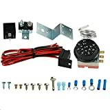 Adjustable Temperature Electric 12V Radiator Fan Thermostat Sensor Control Relay Wire Kit