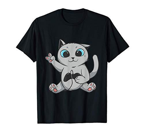 Gamer Gifts For Gamers Cat Shirt Niñas Niños Mujeres Hombres Camiseta