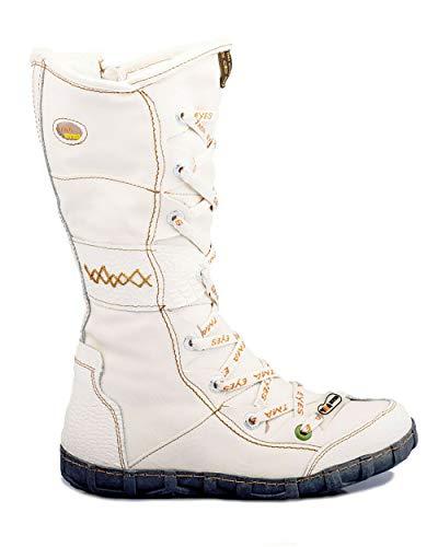 TMA 2088 Damen Stiefel Leder gefüttert weiß - EUR 37