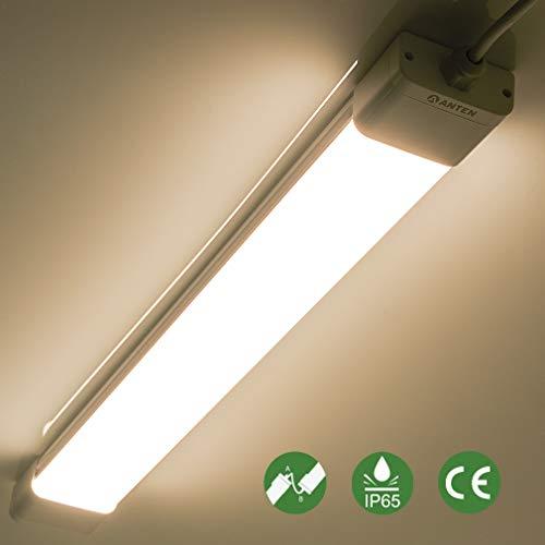 Anten 45W LED Feuchtraumleuchte 150cm für Keller, Garage, Innen- und Außenbeleuchtung | IP65 Wasserfest Kellerleuchte, Feuchtraumlampe in (Kaltweiß 6000K / Neutralweiß 4000K)