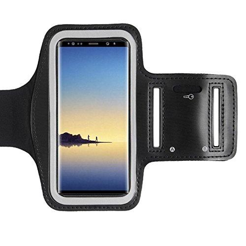 CoverKingz Sportarmband für Samsung Galaxy Note 8 - Armtasche mit Schlüsselfach Galaxy Note 8 - Sport Laufarmband Handy Armband Schwarz