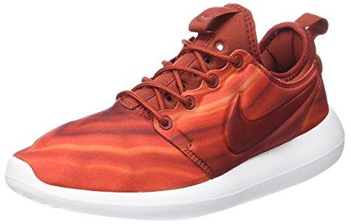 Nike Damen W Roshe Two Print Fitnessschuhe, dunkelrot, 38.5 EU