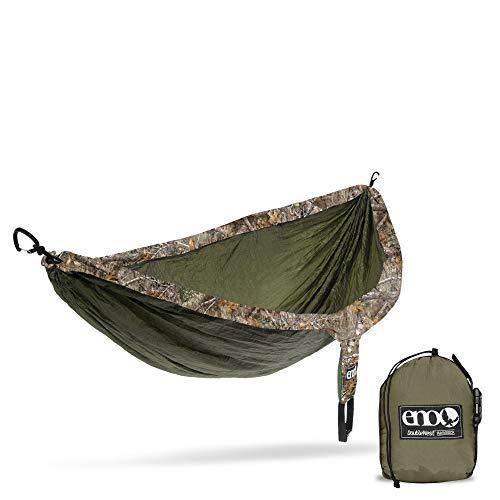 ENO, Eagles Nest Outfitters DoubleNest Camo Hamac de camping léger, 1 à 2 personnes Taille unique Bord réaliste : olive.