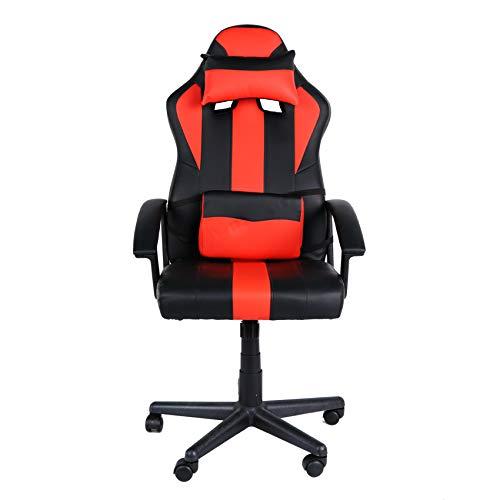 Ghost - Silla de Oficina con Ruedas Gamer - Ajustable en Altura de 114 a 123 cm - Moderna y cómoda