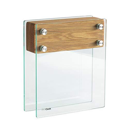 ProCook Messerblock - aus Glas und Eichenholz - Large - unbestückt