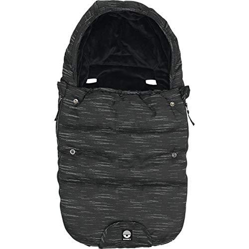 Original Dooky Footmuff Matrix Small Baby Fußsack für Kinderwagen & Maxi Cosi, 0 bis 9 Monate, 70 x 40 cm, winterfest, wasserdicht & winddicht, geeignet für 3- und 5-Punkt-Gurte, schwarz