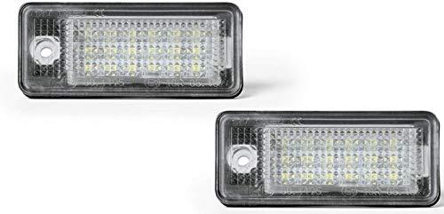 Kfz Dog LED Kennzeichenbeleuchtung | eingebauter CAN-Bus-Widerstand | kompatibel mit diversen Audii Modellen | Zubehör | Tuning | Effizient/geringer Stromverbrauch | leichte Installation