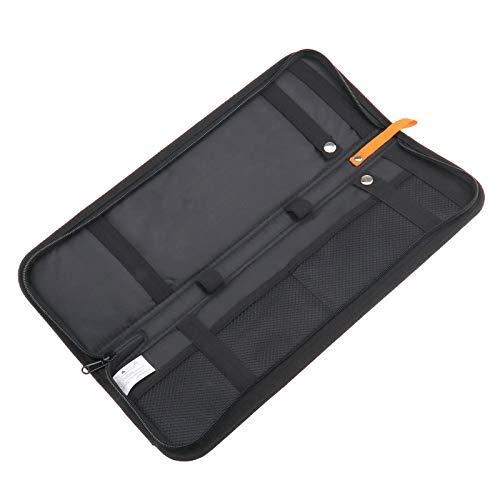 YINETTECH Sac de rangement portable élégant en nylon noir pour homme avec pinces à cravate et boutons de manchette 40,6 x 12,7 x 2 cm