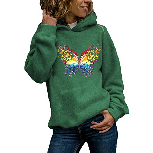 SEWORLD Women Sweatshirt Casual Hoodies Jumper Tops Ladies Print Sweatshirt Blouse Tee Outerwear Coat