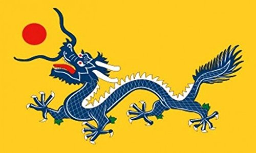 Dragon CHINOIS Imperial drapeau 5 ft x 3 ft grand - 100% Polyester-oeillets métal-cousus Double
