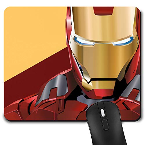 Gaming Mouse Pad, Game Computer Mousepad for Laptop and Desktop, Cute Funny Mouse Mat for Kid and Office Gift (Iron-Man)