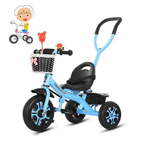 GYF Balance bebé Vespa Bicicleta de Tres Ruedas, andadera Triciclo Pedal del Carrito de los niños de 1-6 años de Edad Libre Inflable Quick niños y niñas de instalación Juguetes (Color : Pink)