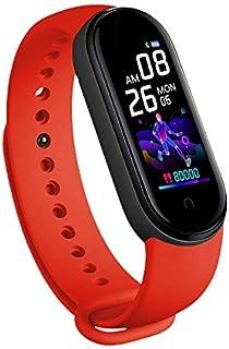 M5 Smart Bracelet Wristband Waterproof Sport Smart Watch Fitness Tracker Watch with Heart Rate Monitor Smart Watch with Me...