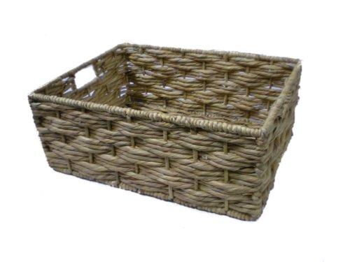 Panier en Osier de rangement en jacinthe d'eau-Taille S