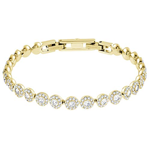 Swarovski Women's Angelic Bracelet, Brilliant White Crystals with Gold-Tone Plating, from the Swarovski Angelic Collection