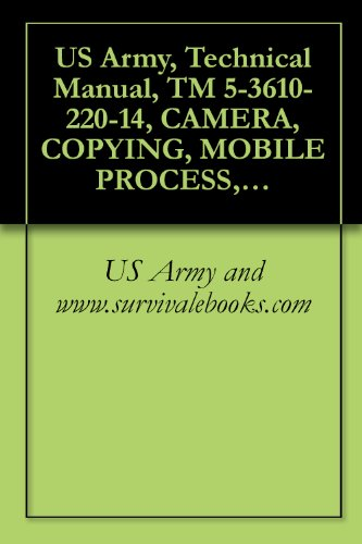 US Army, Technical Manual, TM 5-3610-220-14, CAMERA, COPYING, MOBILE PROCESS, 20 V, 3 PH 60 HZ, 24 X 30-INCH (CONSOLIDATED INTERNATIONAL MODEL 1969) (NSN ... 1969M, (3610-01-067-8926) (English Edition)