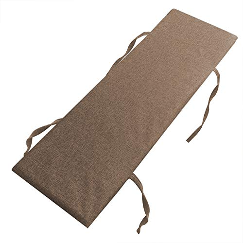 Xpnit - Cuscino per panca da 2 a 3 posti, antiscivolo, 100 120 cm, morbido cuscino per panca da...