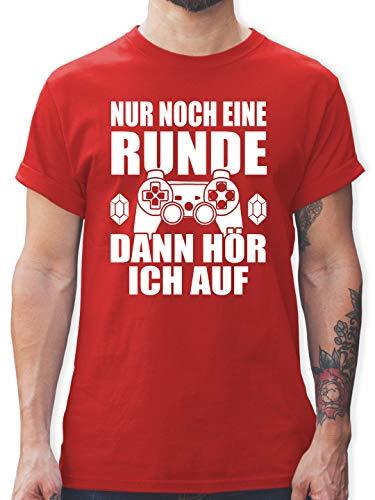 Nerds & Geeks - Nur noch eine Runde - M - Rot - Geek t-Shirt - L190 - Tshirt Herren und Männer T-Shirts