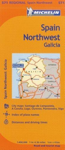 Michelin Spain: Northwest, Galicia Map 571 (Maps/Regional (Michelin)) by Michelin Travel & Lifestyle (2012-08-16)