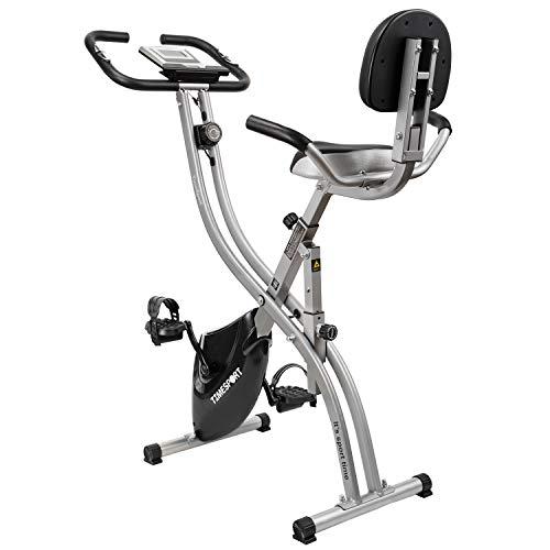 TimeSport フィットネスバイク エアロバイク 静音 室内 自転車トレーニング 有酸素運動 エクササイズマシン 折りたたみ式 マグネット式 ダイエット重宝