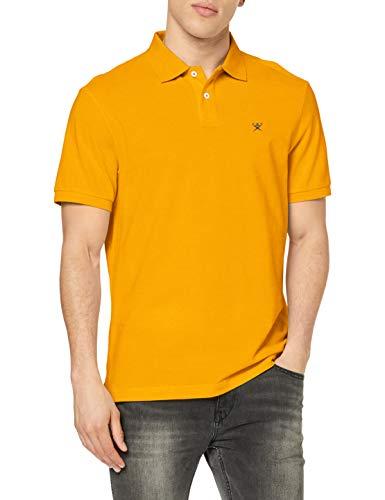 Hackett London Slim Fit Logo Camisa, 042golden YLW, L para Hombre