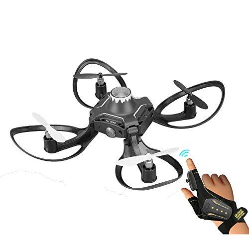 Goolsky Mini Drohne RC Quadrocopter Unterstützung Handschuh Kontrolle interaktive Höhe-Hold Gesture Control für Anfänger