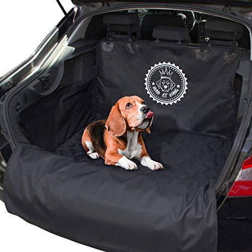 HUND IST KÖNIG Kofferraumschutz Universal inkl. eBook, rutschfeste Auto Kofferraum Schutzmatte, Wasserabweisende Kofferraumdecke für Hunde, Hundedecke mit Ladekantenschutz