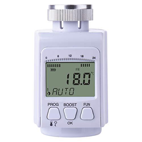 EMOS P5630 Heizungsthermostat/programmierbarer Heizkörperthermostat für Heizungssysteme, Wasserheizung, Heizungssteuerung/Raumtemperaturregler/Thermostat, Weiß, 55 x 70 x 79 mm