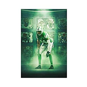 Football Player Darrelle Revis New York Jets Cool Wall Decor Art Print Sport Poster Canvas Poster Wall Art Decor Print Picture Paintings for Living Room Bedroom Decoration 16×24inch(40×60cm) Unframe-s