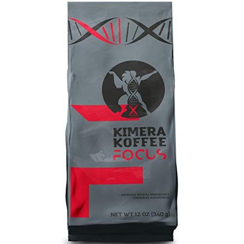 Kimera Koffee Focus Blend - Organic Ground Coffee Infused with L-Theanine (12oz), Rich, Organic Coffee Beans with L-Theanine Amplifies, Alpha Brain Waves, Improves Mental Endurance