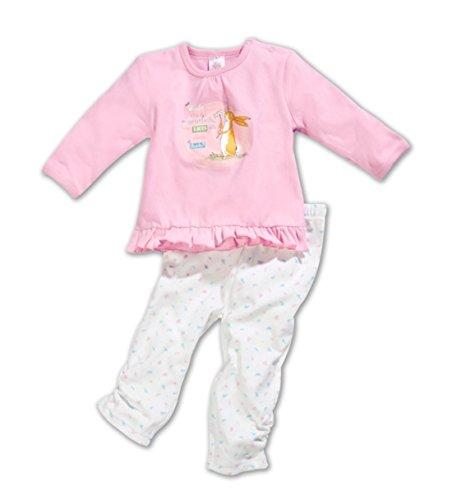 Weißt du eigentlich wie lieb ich dich hab Schlafanzug Kinder Pyjama Nachtwäsche Hase Baby Set Rosa Hase (74/80)