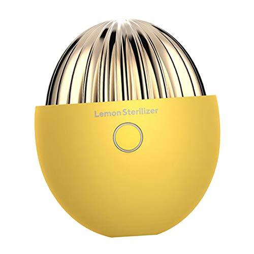 N/A/a Purificador de Aire Mini Generador de Ozono Desodorante Enfriador de Aire Portátil para Refrigerador Doméstico, Armario de Zapatos, Amarillo