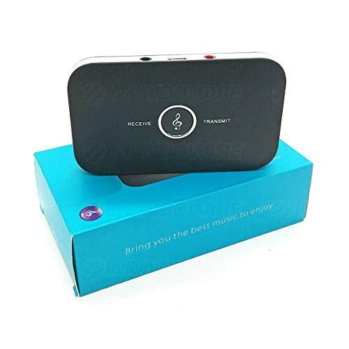 Transmissor e Receptor Bluetooth 4.1 de Áudio Estéreo Sem Fio entre Diversos Dispositivos Blu02 Adaptador 2 em 1 Compacto Preto
