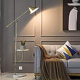 YINGGEXU Lámpara de pie moderna de cristal led lámpara de pie lámpara de techo lampara de pie cocina dormitorio (color del cuerpo: escritorio de mármol)