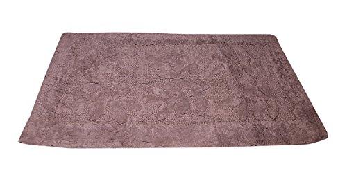 Forme rectangulaire Home Decor 100% coton super absorbant Chambre à coucher de salle de bain Tapis de sol, Beige, taille 50,8 x 78,7 cm