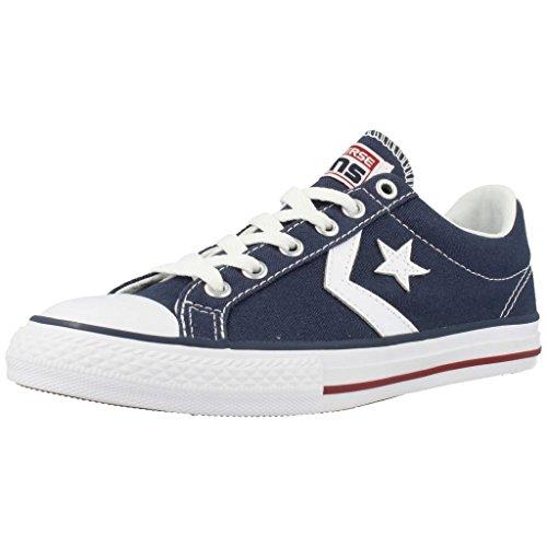 Converse Lifestyle Star Player Ev Ox, Zapatillas Unisex niño, Azul (Navy/White 410), 35 EU
