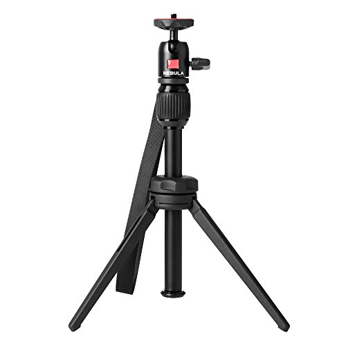 Nebula Capsule Series Adjustable Tripod Stand, Compact, Aluminum Alloy Portable Projector Stand for Pico Projector, Pocket Projector, and Mini Projector with Universal Mount and Swivel Ball Head