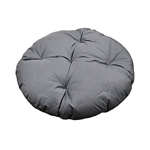 MSM Furniture Overstuffed Indoor Outdoor Replacement Papasan Pillow Seat Cushion Wicker Swing Chair Cushion,polyester Round Cushion Gray 80x80cm(31x31inch)