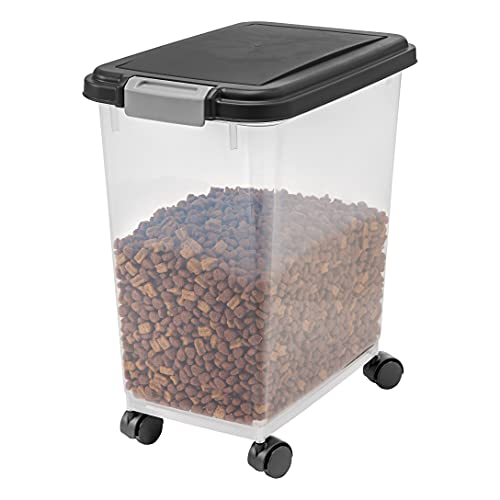 IRIS USA Airtight Food Container for Dog, Cat, Bird, and Other Pet Food Storage Bin, BPA Free