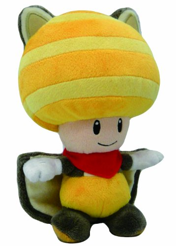 Little Buddy Toys Nintendo Flyinq Squirrel Toad 8quot Plush Yellow