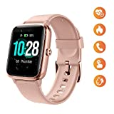 Smart Watch for Women, Waterproof Smartwatch Colorful Full Touch Screen Fitness Tracker