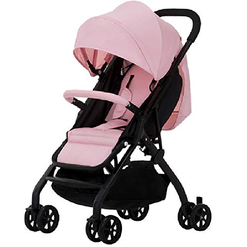 Great Price! WANGLXST Pushchair with Handle Recline Buggy for Airplane, Five-Point Seat Belt, Lightw...
