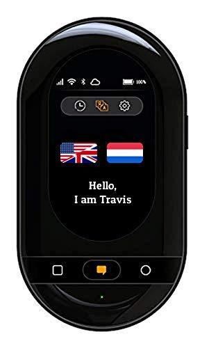 Travis Touch Go – Intelligenter Sprachübersetzer mit 155 Sprachen, eSIM, Touchscreen, 4G & Hotspot (Schwarz)
